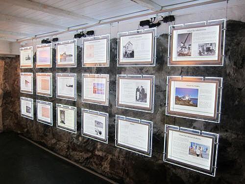 Informasjonstavlene i Fyrhistorisk museum