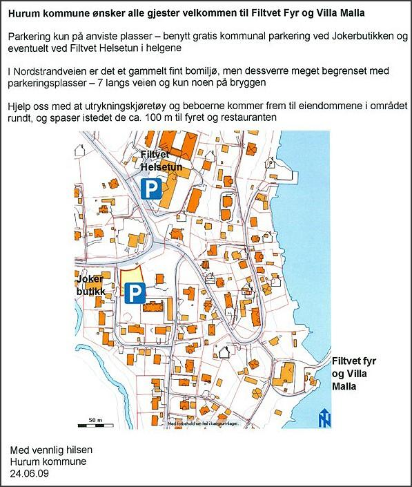 Parkeringsinstrukser, Filtvet Fyr