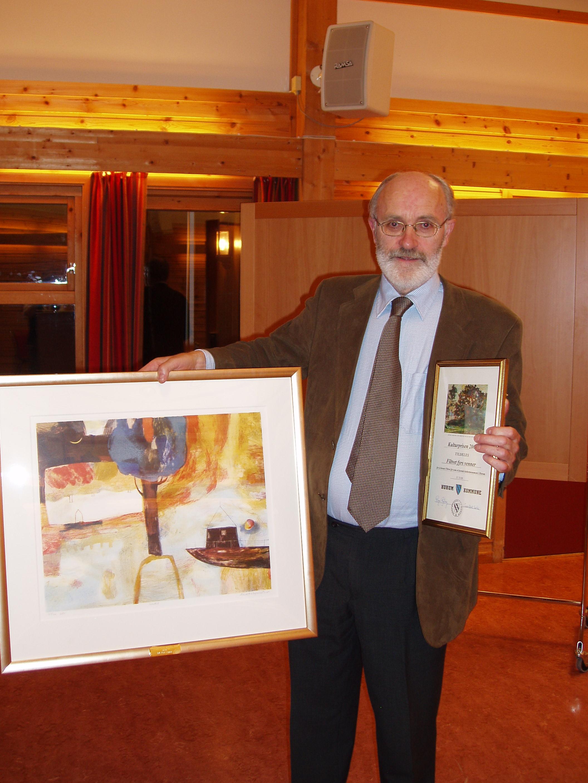 Styreleder Knut-Arne Ekern har mottatt kommunens Kulturpris
