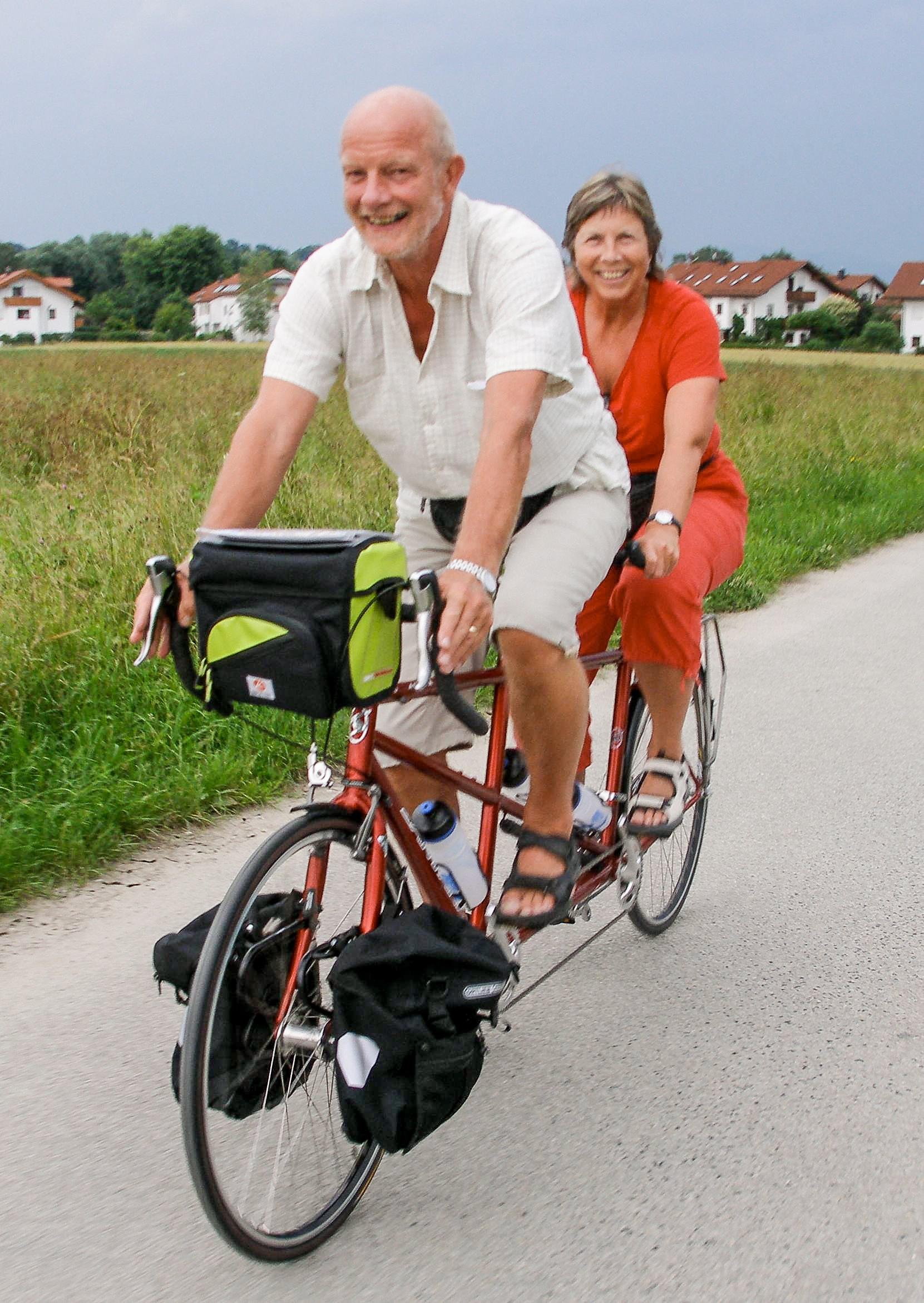 Eva og Fred Nederhoed Sykkel Tur i Europa