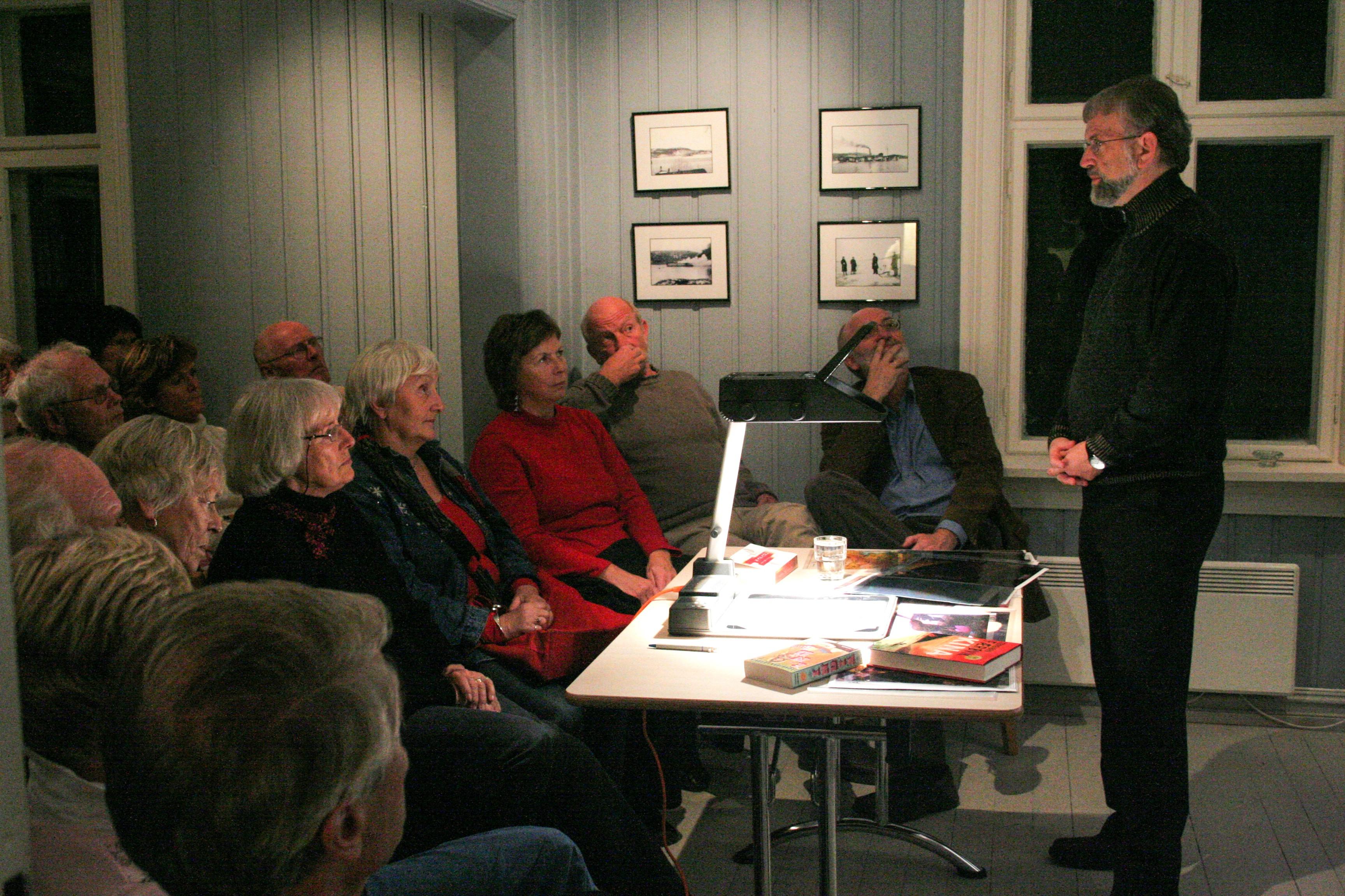 Torbjørn Færøvik holdt foredrag om
