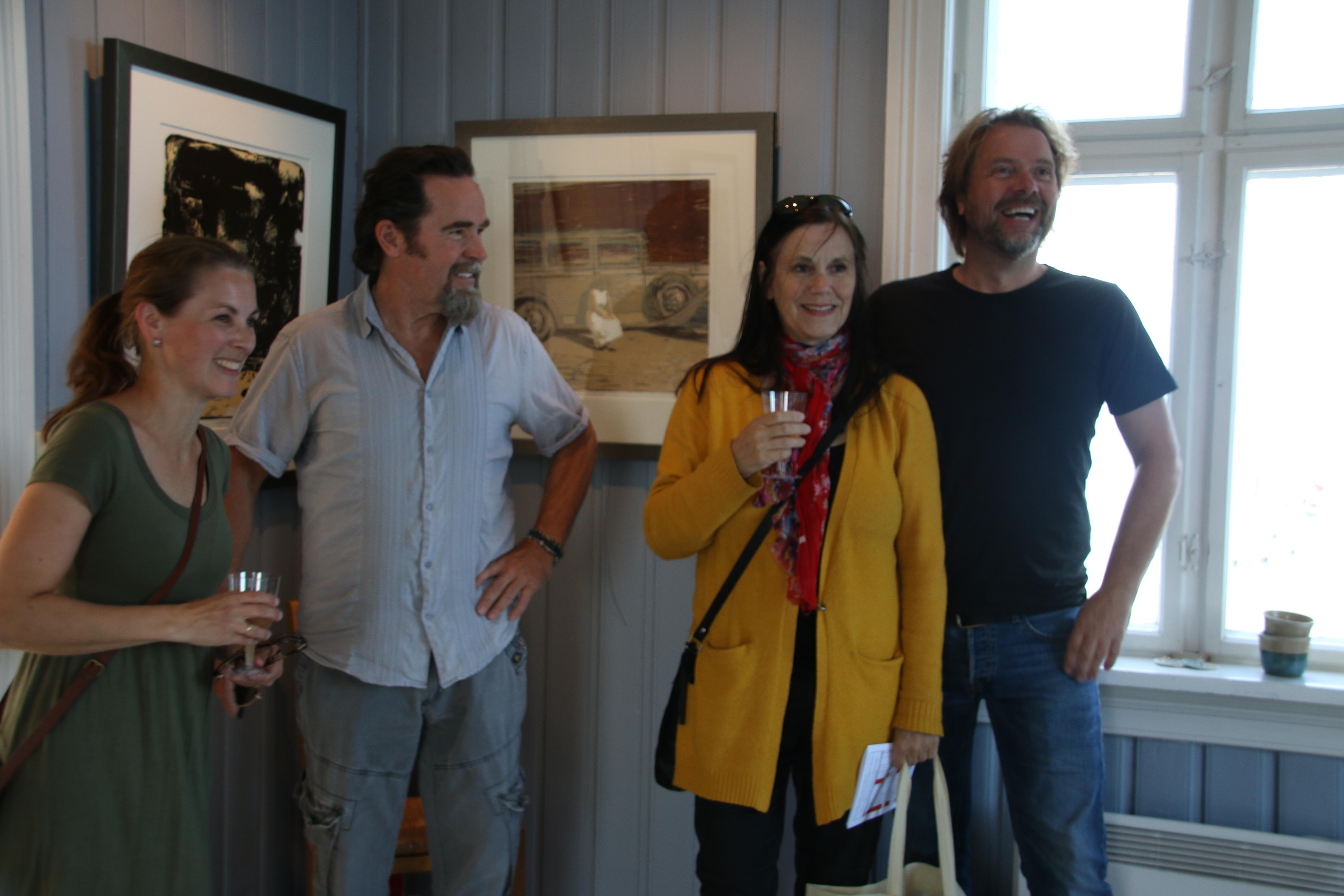 Fra venstre:  Nina V. Grønland, Lars Hopland, Anne Gundersen og Tom Erik Andersen.  Ikke tilstede:  Tor-Arne Moen.